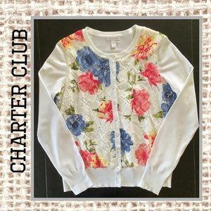 Charter Club Button-Down Cardigan Sweater